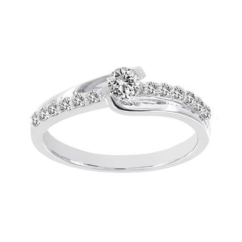 Lumastar 1/2 CT. T.W. Diamond 14K White Gold Bridal Ring