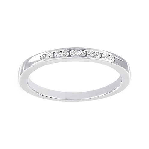 Lumastar 1/10 CT. T.W. Diamond Sterling Silver Wedding Band