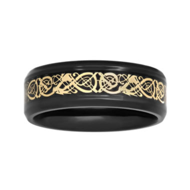 jcpenney.com |  Mens Two-Tone Celtic Dragon 8mm Wedding Band