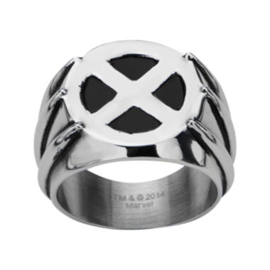 jcpenney.com | Marvel Wolverine Mens Two-Tone Stainless Steel Ring