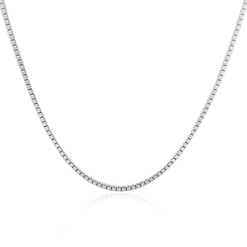 """Sterling Silver 18"""" Venetian Box Chain Necklace"""