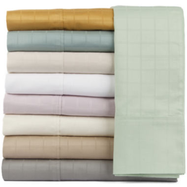 jcpenney.com | Perthshire Platinum 440tc Cotton Window Pane Sheet Set