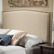 Durango Full/Queen Upholstered Headboard with Nailhead Trim