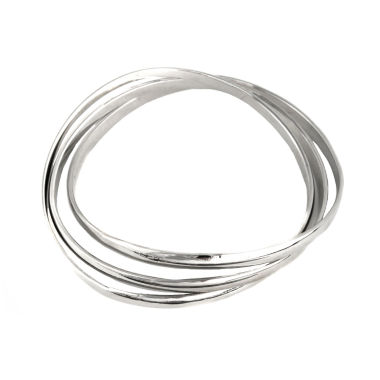 jcpenney.com | a.n.a® Silver-Tone 3-pc. Shiny Thin Bangle Bracelets