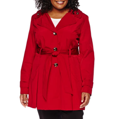 jcpenney.com | Liz Claiborne® Double-Collar Belted Trench Coat - Plus