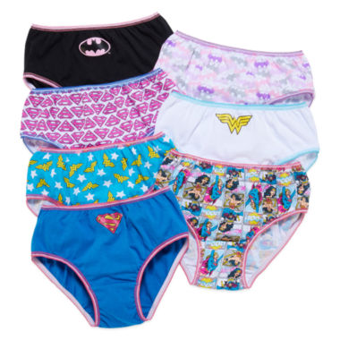 jcpenney.com | Handcraft DC Superhero 7-pk. Panties - Toddler Girls 2t-4t