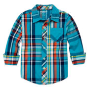 Arizona Long-Sleeve Classic Woven Shirt - Toddler Boys 2t-5t