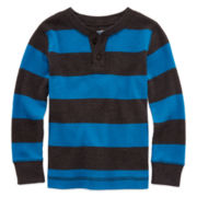 Arizona Lon-Sleeve Striped Thermal Tee - Toddler Boys 2t-5t