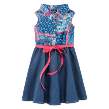 jcpenney.com | Lilt Sleeveless Blue Shirtdress - Preschool Girls 4-6x