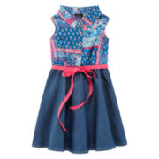 Lilt Sleeveless Blue Shirtdress - Preschool Girls 4-6x