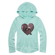 Miss Chevious Long-Sleeve Sweater-Knit Hoodie - Girls 7-16