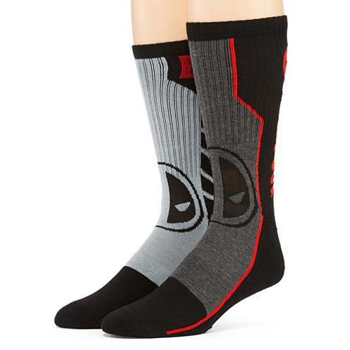 Marvel® Deadpool 2-pk. Athletic Crew Socks