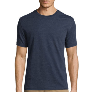 jcpenney.com | St. John's Bay® Short-Sleeve Slim-Fit Heather Tee