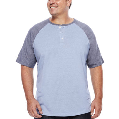 jcpenney.com | The Foundry Supply Co.™ Short-Sleeve Colorblock Henley Shirt - Big & Tall