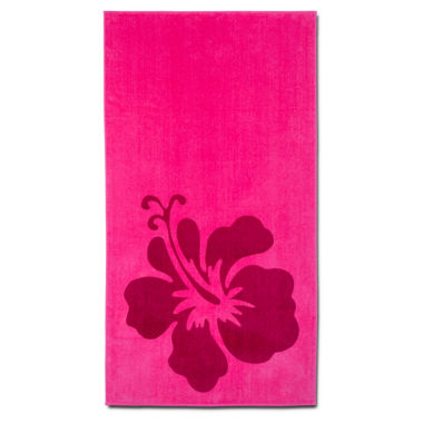 "jcpenney.com | Hibiscus 2-pc. Printed 27""x88"" Beach Towel Set"