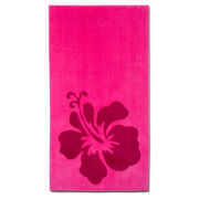 Hibiscus 2-pc. Printed Beach Towel Set