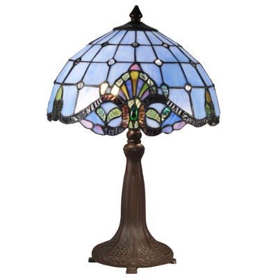 Dale Tiffany Blue Baroque Table Lamp Color Multi Jcpenney