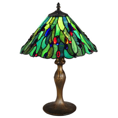 jcpenney.com | Dale Tiffany™ Jeweled Leaf Table Lamp