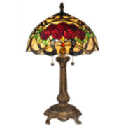 Dale Tiffany™ Red Rose Table Lamp