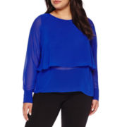 Boutique+™ Long-Sleeve Layered Top - Plus
