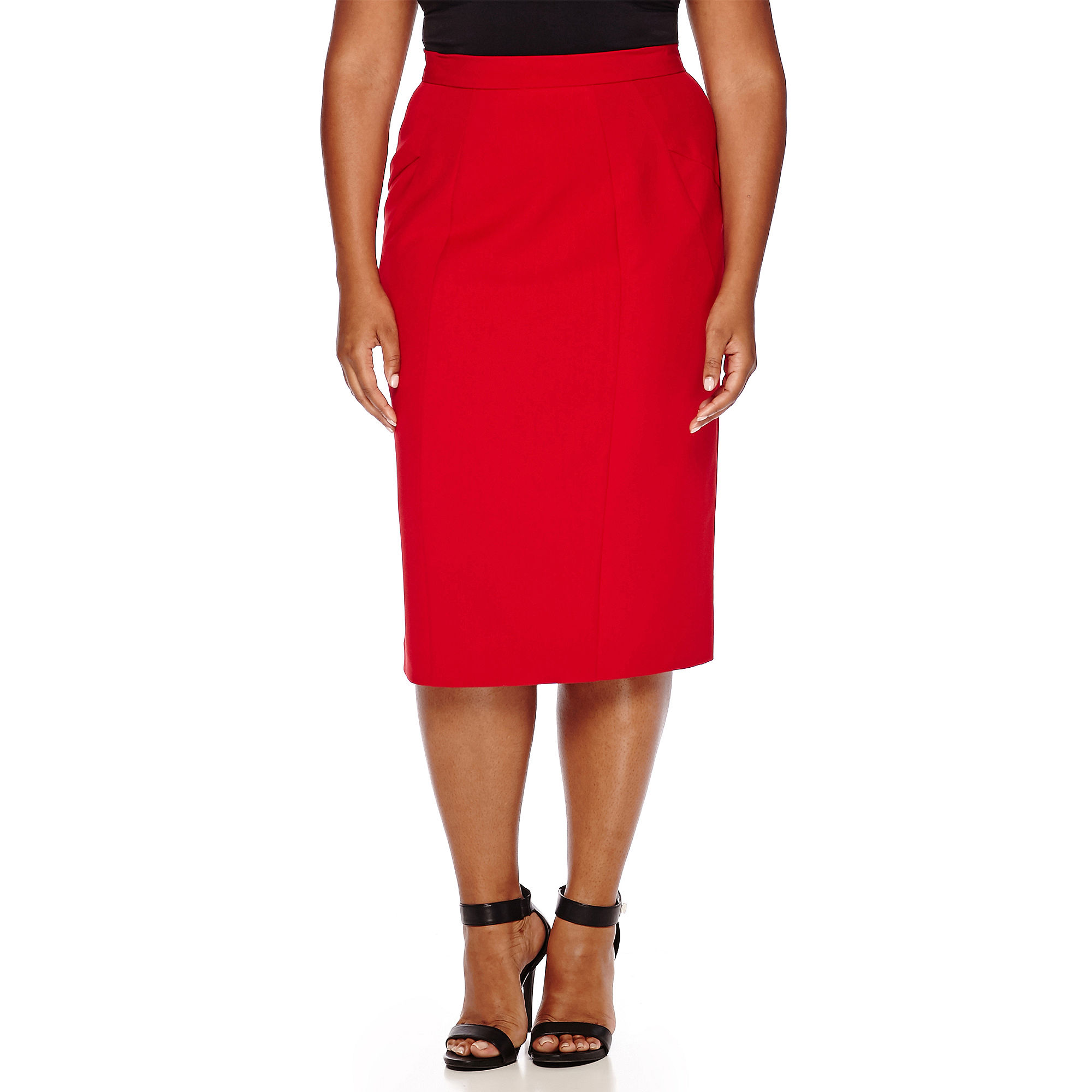 Worthington High-Waist Pencil Skirt - Plus plus size,  plus size fashion plus size appare