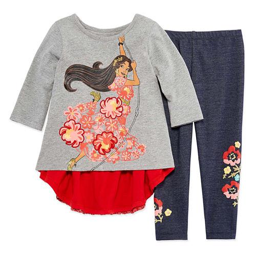 Disney by Okie Dokie 2-pc. Elena of Avalor Legging Set-Preschool Girls