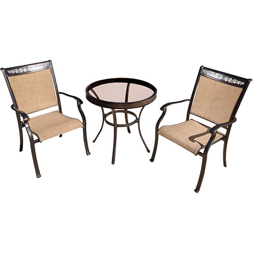 """Hanover Sling Dining Chairs + 30"""" Table 3-pc. Bistro Set"""
