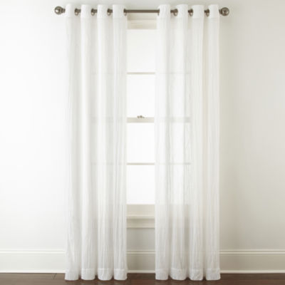 Linden Street Farmhouse Grommet Sheer Curtain Panel JCPenney