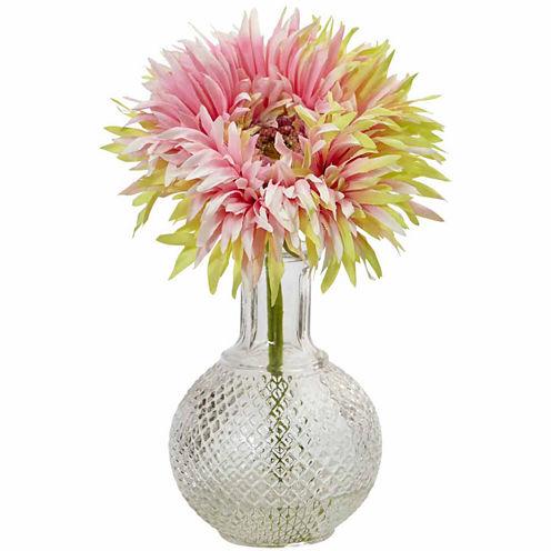 Daisy With Glass Vase 3-pc. Floral Arrangement