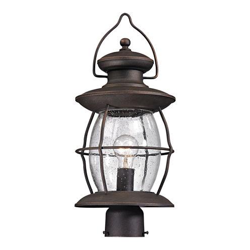 Elk Lighting Village Lantern 1-light Outdoor PostLight