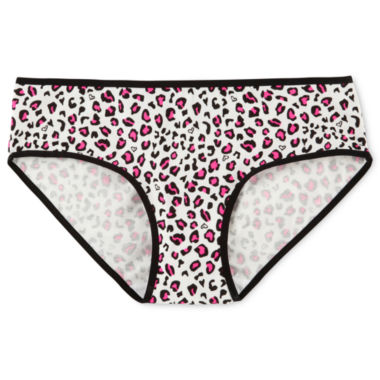 jcpenney.com | Maidenform Pink Heart Leopard Panties - Girls 4-16
