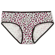 Maidenform Pink Heart Leopard Panties - Girls 4-16