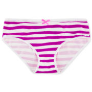 Maidenform Purple Striped Hipster Panties - Girls 4-16