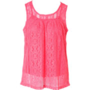 Pinky Crochet Lace Tank Top - Girls 4-16