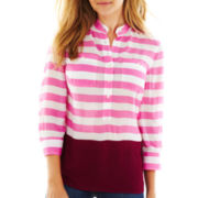 jcp™ Striped Popover Top