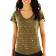 Unity® Short-Sleeve V-Neck Top - Petite