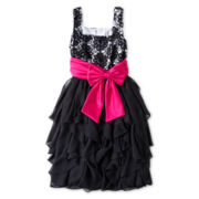 Rare Editions Sleeveless Casscade Dress - Girls 7-16