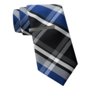 JF J. Ferrar® Large Multi Plaid Tie