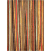 Loloi Aurora Brown Stripe Rectangular Rugs
