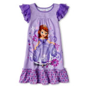 Disney Collection Sofia Nightshirt - Girls 2-10
