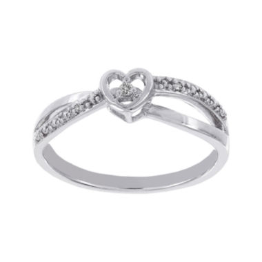 jcpenney.com | Lumastar Diamond-Accent Sterling Silver Heart Promise Ring