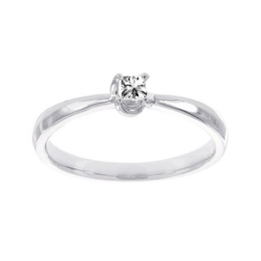 jcpenney.com | Lumastar 1/10 CT. T.W. Diamond 10K White Gold Princess-Cut Promise Ring