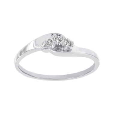 jcpenney.com | Lumastar Diamond-Accent 10K White Gold 3-Stone Promise Ring