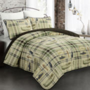 Valley Creek Fishing Plaid Quilt Set