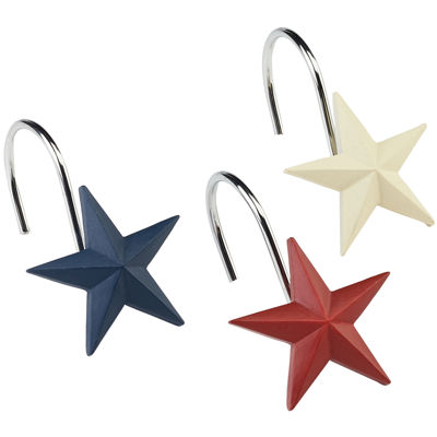 Avanti Texas Star Shower Curtain Hooks
