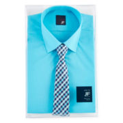 JF J. Ferrar® Slim-Fit Shirt and Tie Box Set