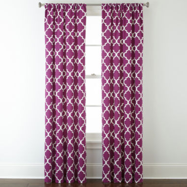 jcpenney.com | Home Expressions™ Thermal Trellis Rod-Pocket Curtain Panel