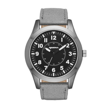 jcpenney.com | Arizona Mens Grey And Black Strap Watch