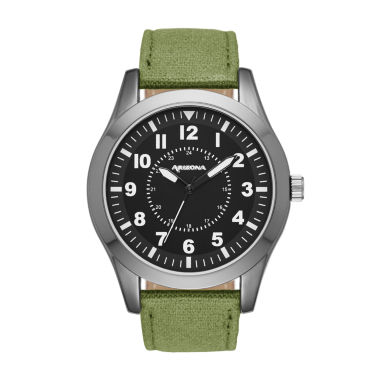 jcpenney.com | Arizona Mens Green And Black Strap Watch