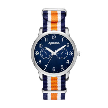 jcpenney.com | Arizona Mens Silver Tone Orange And Blue Strap Watch